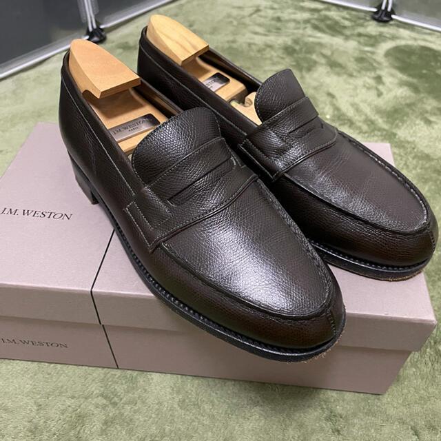 J.M. WESTON(ジェーエムウエストン)の土日限定特価‼️j.m.weston 180シグニチャーローファーシボ革 美品 メンズの靴/シューズ(ドレス/ビジネス)の商品写真