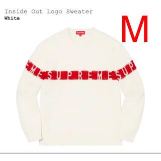 シュプリーム(Supreme)のSupreme Inside Out Logo Sweater White M(ニット/セーター)