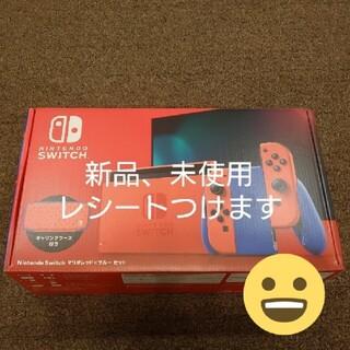 ニンテンドースイッチ(Nintendo Switch)の任天堂 Nintendo Switch マリオレッド×ブルー セット(家庭用ゲーム機本体)