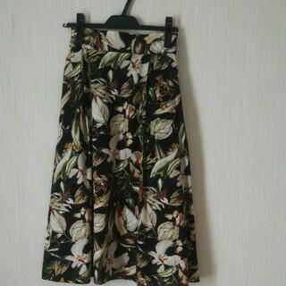 スタイルデリ(STYLE DELI)のスタイルデリ ボタニカル柄スカート(ひざ丈スカート)