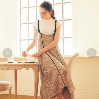 ノエラ(Noela)のnoela インナーセットロングジャンパースカート ベージュ(ロングワンピース/マキシワンピース)