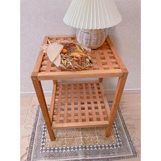 アクタス(ACTUS)の美品 韓国インテリア 棚 ベットサイドテーブル アンティーク ヴィンテージ(コーヒーテーブル/サイドテーブル)