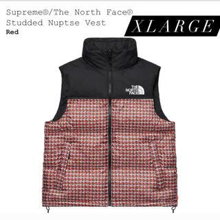 シュプリーム(Supreme)のSupreme® Studded Nuptse Vest Red XLサイズ(ダウンベスト)