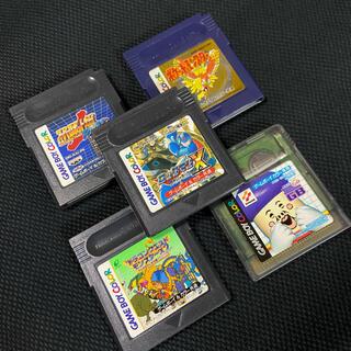 ゲームボーイ(ゲームボーイ)のゲームボーイカラー ソフト5本セット(携帯用ゲームソフト)