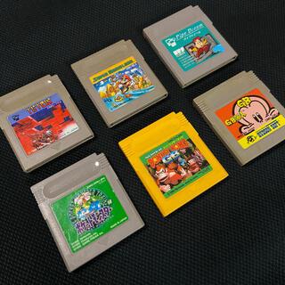 ゲームボーイ(ゲームボーイ)のゲームボーイ ソフト6本セット(携帯用ゲームソフト)