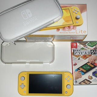 ニンテンドースイッチ(Nintendo Switch)の任天堂SwitchLite & 世界のアソビ大全51 & 256GBメモリー(携帯用ゲームソフト)