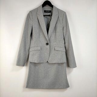 エムケーミッシェルクラン(MK MICHEL KLEIN)のミッシェルクラン トップス40/スカート38 セットアップ グレー 無地 上品(スーツ)