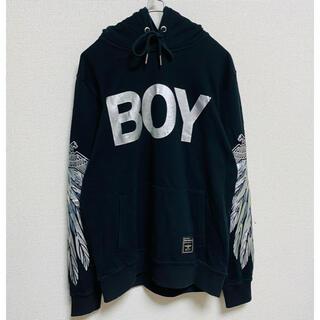 ボーイロンドン(Boy London)の一点物 ボーイ ロンドン(BOY LONDON) デカロゴ 袖プリント パーカー(パーカー)