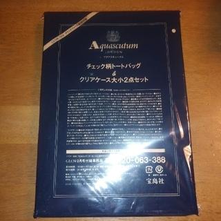 アクアスキュータム(AQUA SCUTUM)のアクアスキュータム チェック柄トートバッグ&クリアケース大小2点セット(トートバッグ)