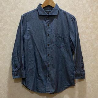 シップスジェットブルー(SHIPS JET BLUE)のSHIPS JET BLUE デニムライク リネン混 シャンブレーシャツ 7分袖(シャツ)