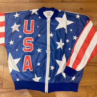 Champion - 90年代 オリンピック アメリカ代表チーム ペーパージャケット 星条旗 USA