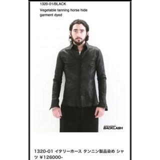 イサムカタヤマバックラッシュ(ISAMUKATAYAMA BACKLASH)のBACKLASHバックラッシュ1320-01イタリーホースレザーシャツ本革本皮(レザージャケット)
