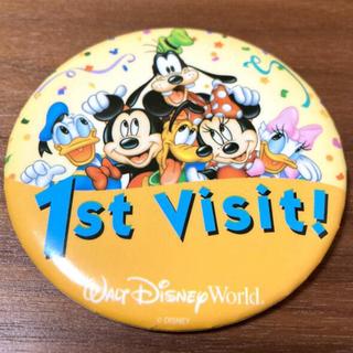 ディズニー(Disney)のDisney World 缶バッチ 1st visit (バッジ/ピンバッジ)