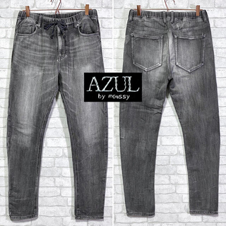 アズールバイマウジー(AZUL by moussy)のAZUL by moussy アズール ストレッチ イージーデニム ブラック(デニム/ジーンズ)