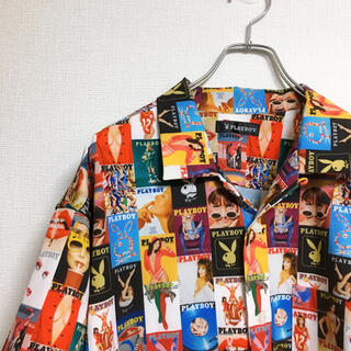 プレイボーイ(PLAYBOY)のプレイボーイ 半袖シャツ 総柄 表紙モザイク  L メンズ(シャツ)