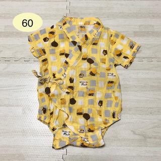 クマノプーサン(くまのプーさん)のくまのプーさん ロンパース 甚平 イエロー 60cm ディズニー(甚平/浴衣)
