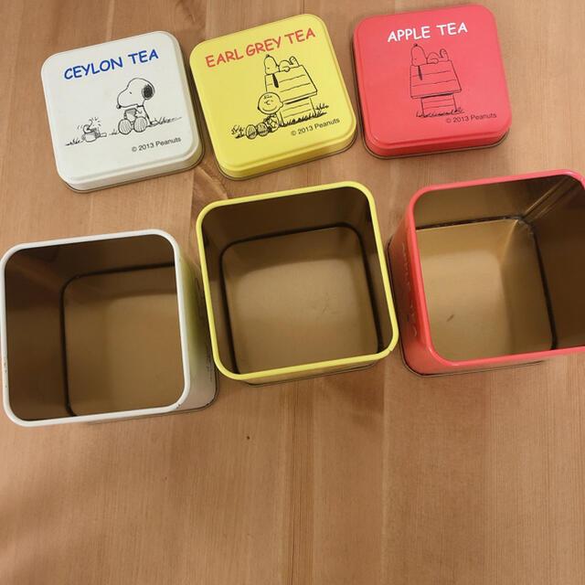 SNOOPY(スヌーピー)のスヌーピー 連結可能 缶ケースセット 小物入れ インテリア/住まい/日用品のインテリア小物(小物入れ)の商品写真