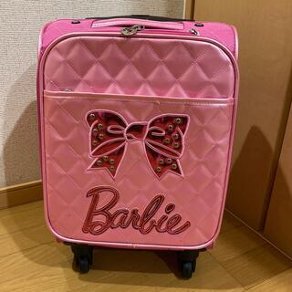 バービー(Barbie)の美品 機内持込可 Barbie 4輪キャリーケース ピンク トランクケース 旅行(スーツケース/キャリーバッグ)