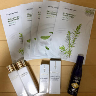 ロクシタン(L'OCCITANE)の韓国パック ロクシタン化粧水 ゲラン美容液 ミキモトシャンプー&コンディショナー(パック/フェイスマスク)