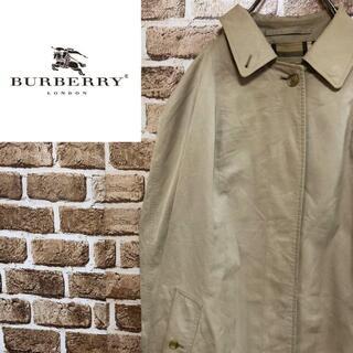BURBERRY - ♡バーバリーズ♡イングランド製ステンカラーコート ノバチェック ロング ベージュ