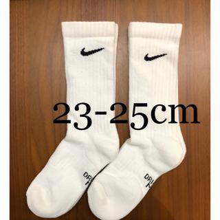 NIKE - 【新品未使用】NIKE  2足組 靴下 ホワイト 23.0cm〜25.0cm