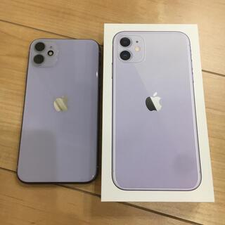 アップル(Apple)のiPhone11 パープル 64GB SIMフリー(スマートフォン本体)