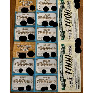 ラウンドワン株主優待券2セット 5000円分(ボウリング場)