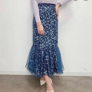 エイミーイストワール(eimy istoire)のeimy♡シアーフラワーオーガンジースカート(ロングスカート)