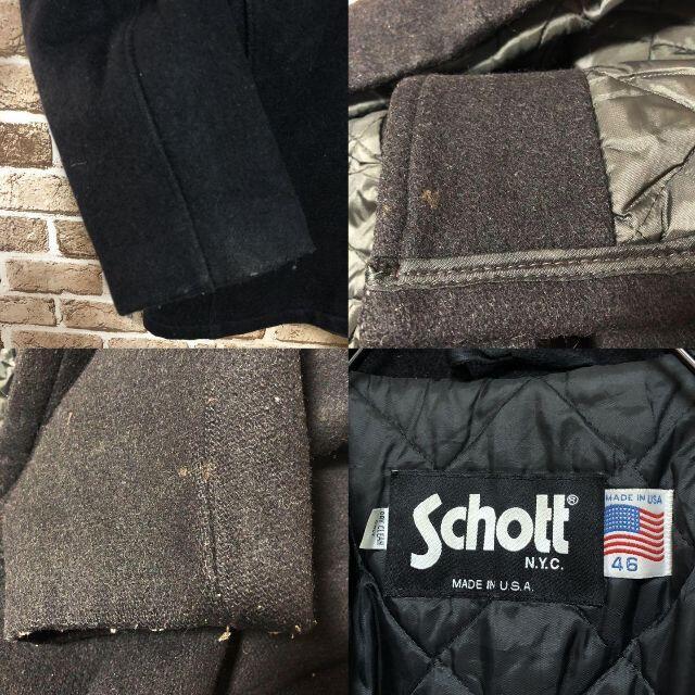 schott(ショット)の♡ショット♡USA製 ウールPコートジャケット ビッグサイズ 黒 アウター メンズのジャケット/アウター(その他)の商品写真