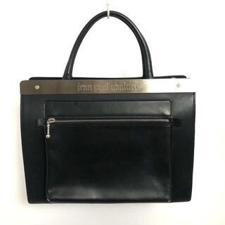 ジャンポールゴルチエ(Jean-Paul GAULTIER)のゴルチエ ハンドバッグ - 黒×シルバー(ハンドバッグ)