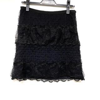 サカイラック(sacai luck)のサカイラック ミニスカート サイズ2 M - 黒(ミニスカート)