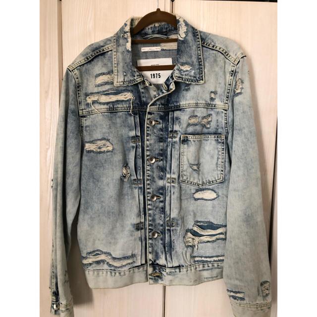 ZARA(ザラ)のZARA ダメージ デニムジャケット メンズのジャケット/アウター(Gジャン/デニムジャケット)の商品写真