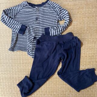 ムジルシリョウヒン(MUJI (無印良品))の無印良品 パジャマ グレー ネイビー 110cm(パジャマ)