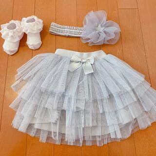 petit main - チュールスカート+ヘアバンド+靴下 3点セット