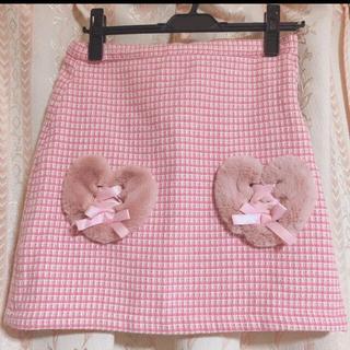 スワンキス(Swankiss)のswankiss スワンキス ミニスカート ハートポケット ピンク(ミニスカート)