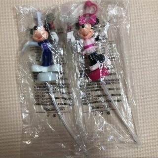 ディズニー(Disney)のディズニー 25周年 ストロー ミッキー ミニー ボトルキャップ(キャラクターグッズ)