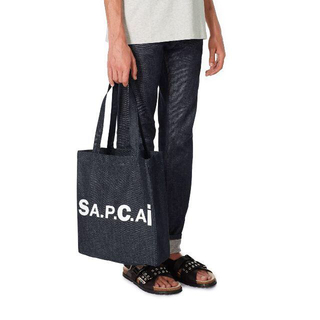 サカイ(sacai)のsacai × APC Holly トートバッグ navy(トートバッグ)