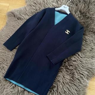 バンヤードストーム(BARNYARDSTORM)の未使用 バンヤードストーム 春コート 紺×水色 リバーコート(その他)