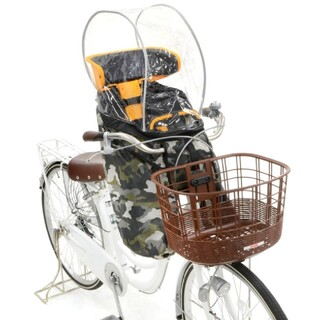 オージーケー(OGK)のハレーロミニ☆レインカバー 後付け前乗せチャイルドシート(自転車)