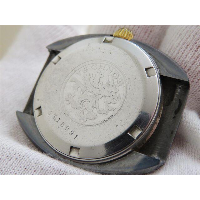 TECHNOS(テクノス)のTECHNOS deluxe Borazon 自動巻き腕時計 デイト 立体風防 メンズの時計(腕時計(アナログ))の商品写真