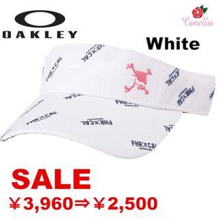 オークリー(Oakley)の新品 オークリー スカル グラフィック バイザー WH(サンバイザー)