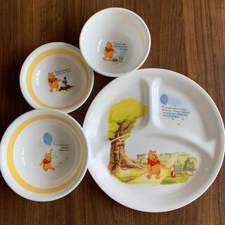 クマノプーサン(くまのプーさん)のくまのプーさん   キッズ用食器   4点セット  ディズニー   お値下げ中(離乳食器セット)