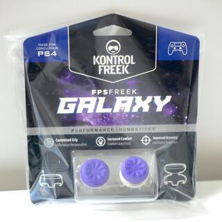 紫 PS4コントローラー用 FPSアシストキャップ Freek Galaxy (その他)