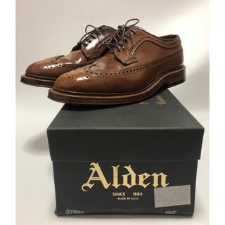 Alden - オールデン ウイスキーコードバン ロングウイングチップ 6.5E