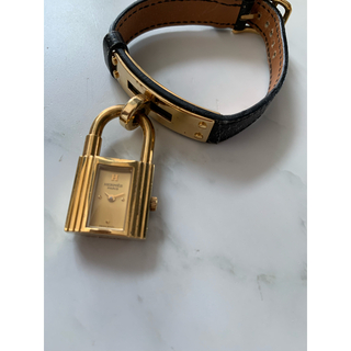 エルメス(Hermes)のHERMES エルメス 腕時計 ケリーウォッチ 黒(腕時計)