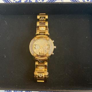 アヴァランチ(AVALANCHE)のAQUA MASTER ダイヤモンドウォッチ 0.20 ct イエローゴールド(腕時計(アナログ))