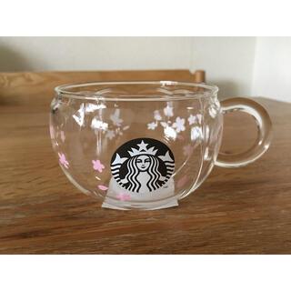 スターバックスコーヒー(Starbucks Coffee)のスターバックス SAKURA2020耐熱グラスマグサクラシェイプ296ml(グラス/カップ)