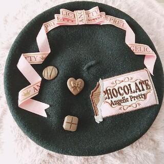 アンジェリックプリティー(Angelic Pretty)のMelty chocolateベレー帽(ハンチング/ベレー帽)