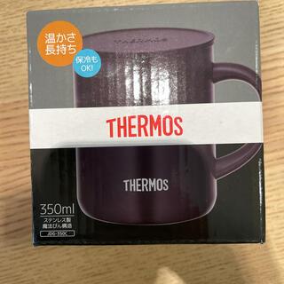 サーモス(THERMOS)のサーモス 真空断熱マグカップ 未開封 黒(グラス/カップ)
