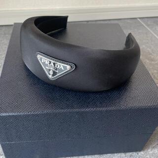 プラダ(PRADA)の新品 PRADA トライアングル ロゴ ナイロン ヘッドバンド カチューシャ(カチューシャ)